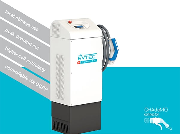 Evtec coffee&charge bidirectioneel